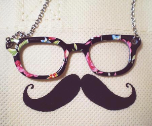 mustache, moustache, and glasses image