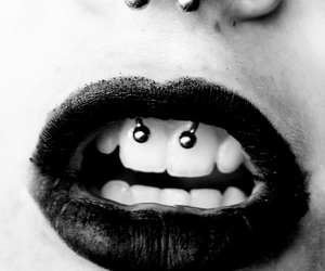 piercing, septum, and smiley image