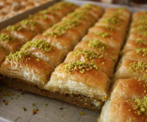 baklava, dessert, and delicious image