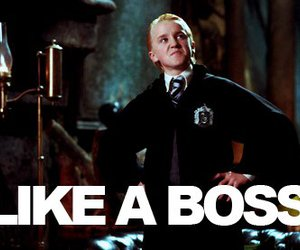 harry potter, draco malfoy, and boss image