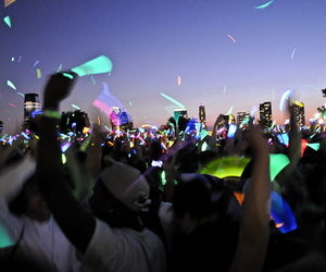 party, light, and neon image