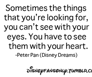 quote, disney, and heart image