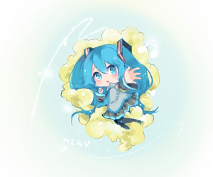 anime, kawaii, and miku hatsune image