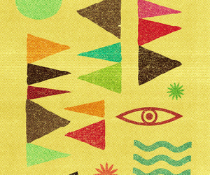 bright colors, home decor, and triangles geometric image