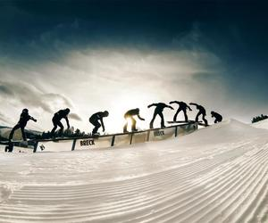 ride, snow, and snowboard image