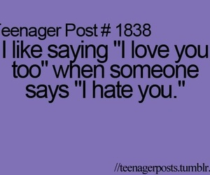 teenager post, hate, and quote image