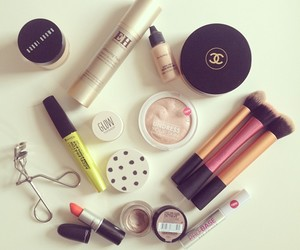 make up, chanel, and lipstick image