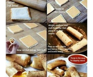 cheese, diy, and bread image