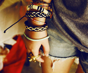 bracelet, girl, and shorts image