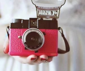 camera, pink, and vintage image