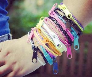 bracelet, cool, and zipper image