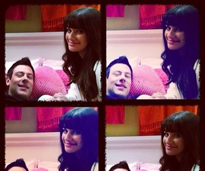 forever, glee, and monchele image