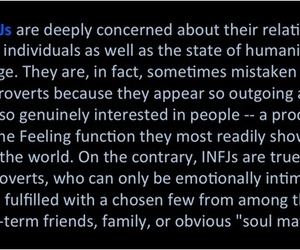 feeling, infj, and introvert image