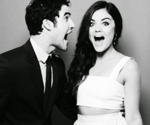 lucy hale, darren criss, and glee image