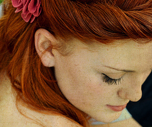 beautiful, freckles, and red hair image