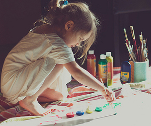 colors, girl, and kid image