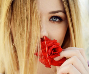 girl, rose, and blonde image