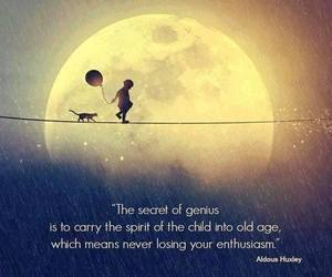 quote, child, and moon image