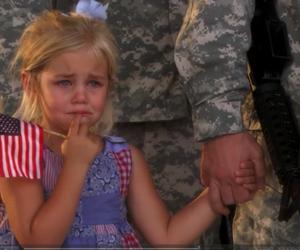 girl, sad, and army image