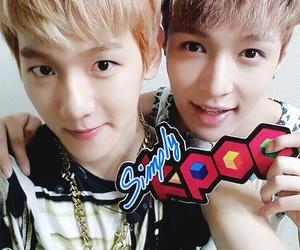 exo, yixing, and baekhyun image