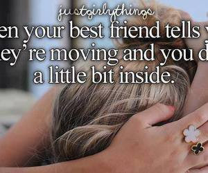 best friends, sad, and quote image