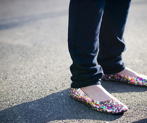 shoes, flats, and ballet flats image