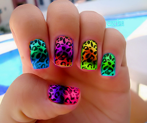 colourfull, nice, and nails image