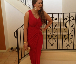 formal, make up, and red dress image
