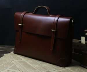 briefcase, laptop messenger bag, and genuine cow leather image