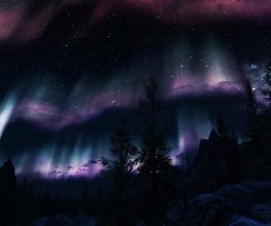 art, video game, and aurora image