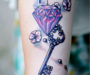 amethyst, flower, and tattoolover image