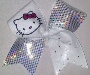 bow, kitty, and cheerleading image