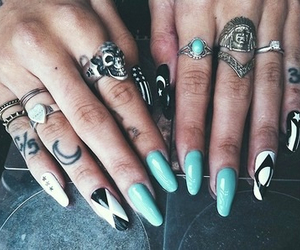 rings, tattoo, and designs image