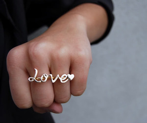 girl, love, and ring image