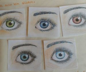 colour, eyes, and sketch image