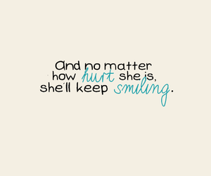 quote, hurt, and smiling image