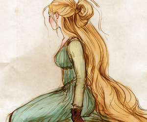 rapunzel, tangled, and art image