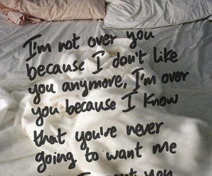 love, bed, and text image