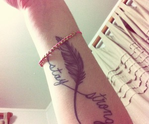 fly, tattoo, and staystrong image