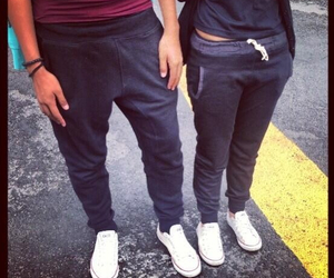 converse, couple, and pants image