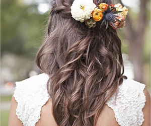 braid, girl, and lace image
