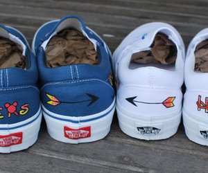 disney, vans shoes, and hand painted vans image