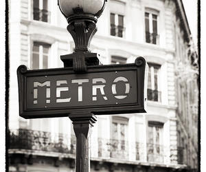 black and white and metro image