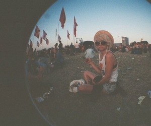 girl, festival, and vintage image