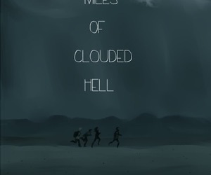 clouds, edit, and hell image