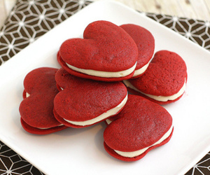 food, heart, and red image