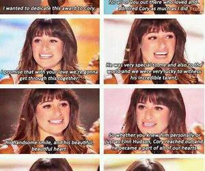 lea michele, glee, and cory monteith image