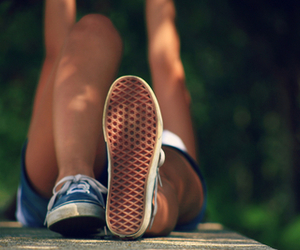 girl, vans, and summer image