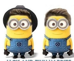 minions, finn, and jack image