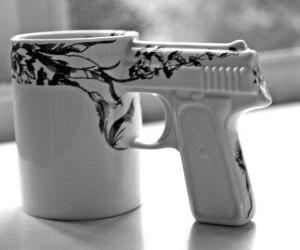 gun, cup, and mug image